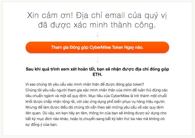 Đăng ký tài khoản CyberMiles. (Ảnh 4)