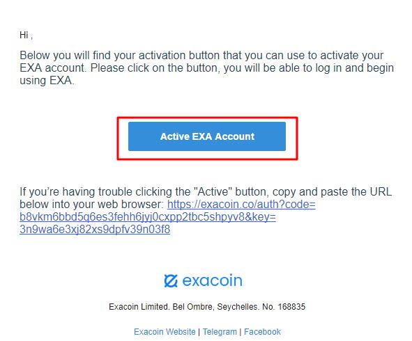 Đăng ký Exacoin.