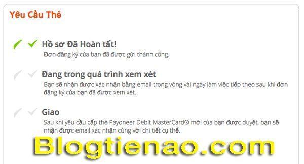 Cách yêu cầu Payoneer gửi thẻ. Ảnh 4