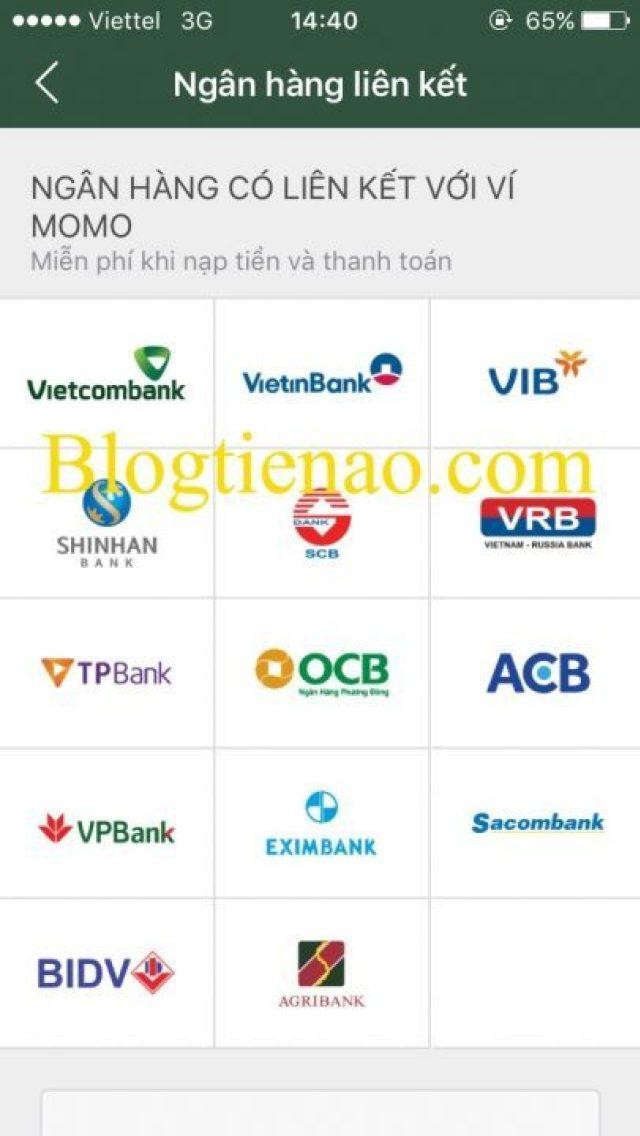 Hướng dẫn liên kết với tài khoản ngân hàng