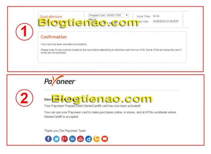 Cách Active tài khoản Payoneer. Ảnh 3