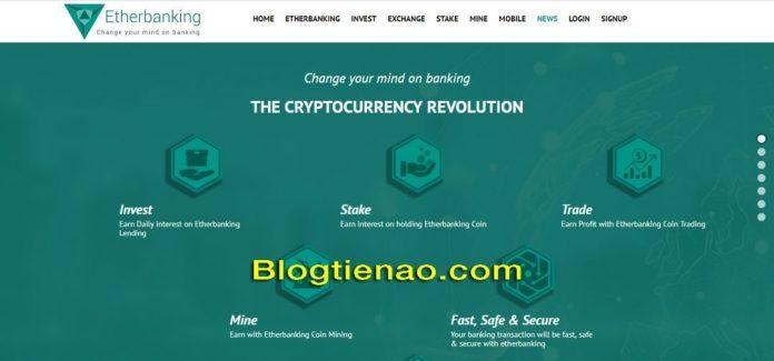 Giao diện của Etherbanking.io