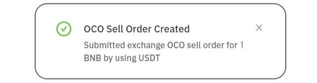 Đặt lệnh OCO thành công
